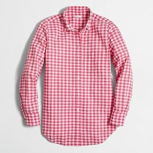 J crew factory gingham button down
